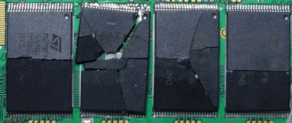 destroyed ssd nand