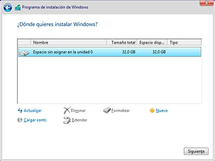 instalacion windows